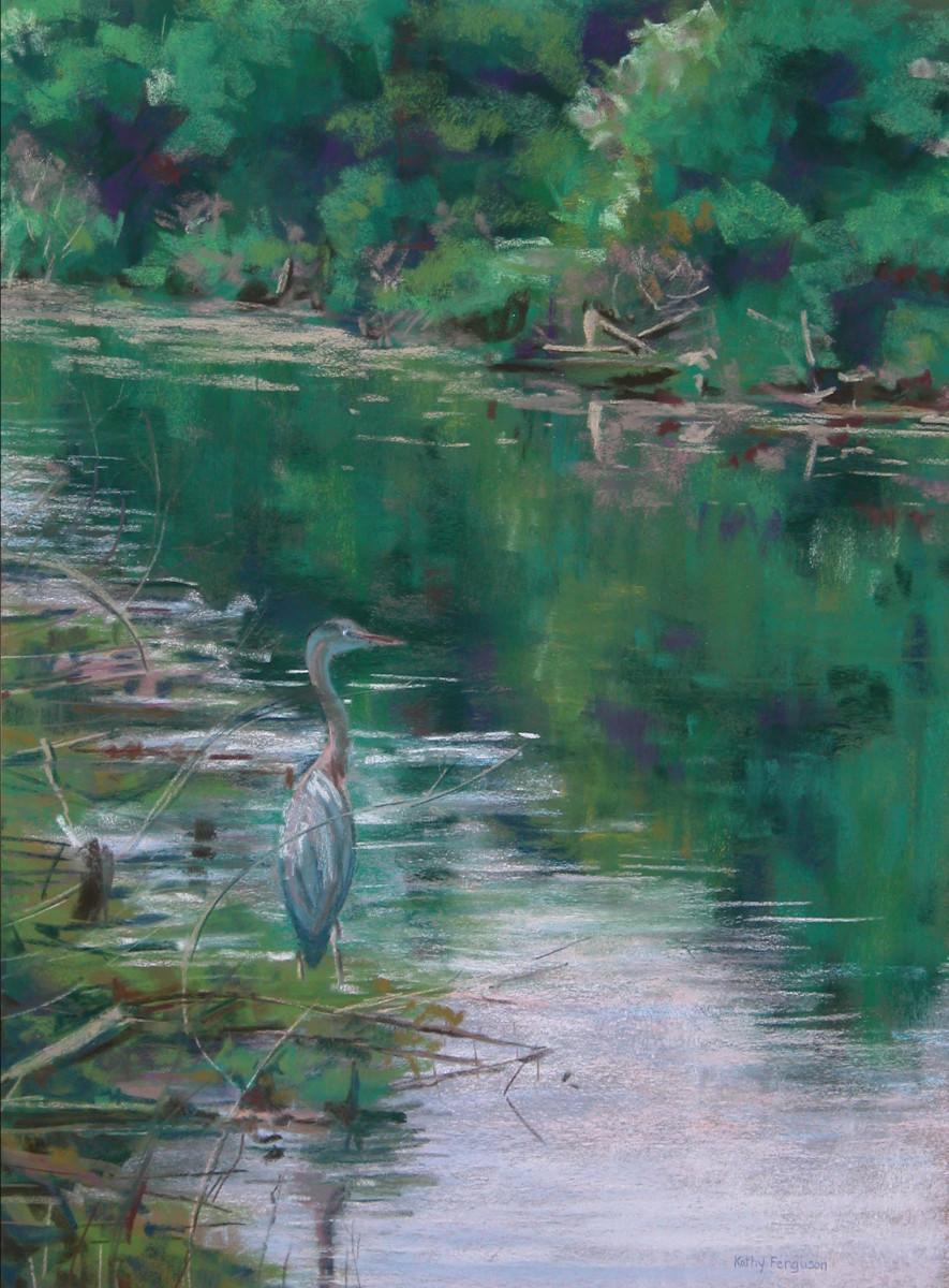 Heron in the Everglades by Kathy Ferguson