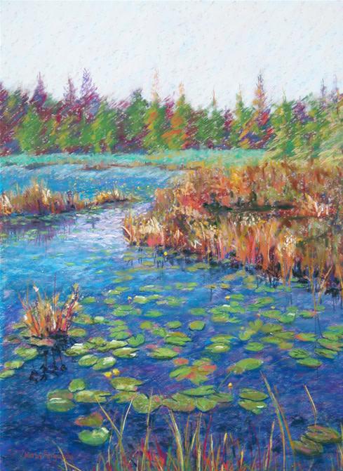 Lily Pad Lake by Kathy Ferguson