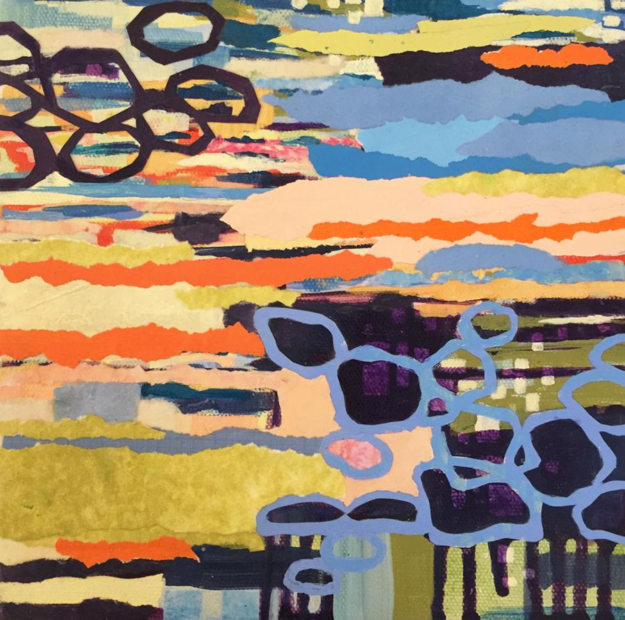 Linked Loops, Warm by Kathy Ferguson