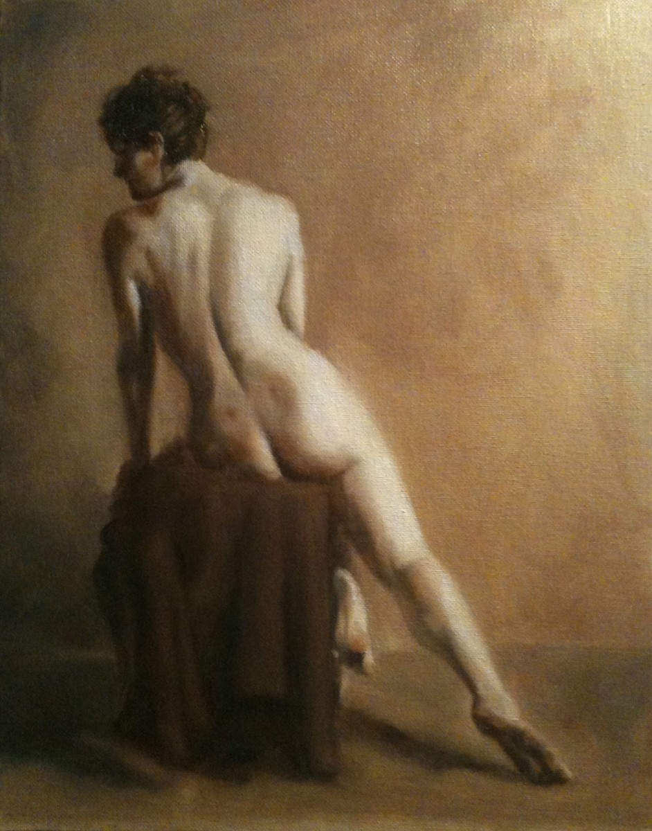 Seated Nude from Back by Kathy Ferguson