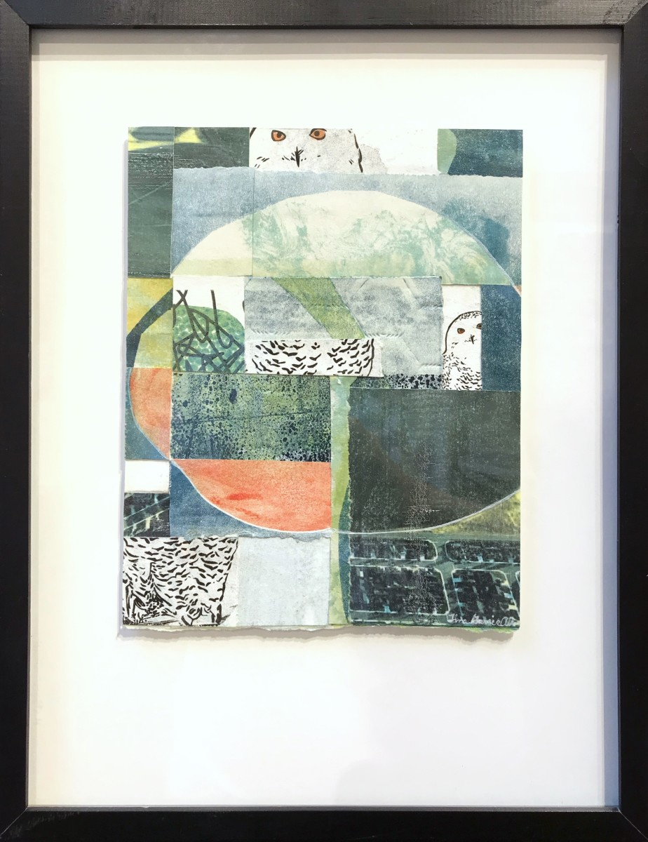 Full Moon Snowy Owl by Tina Garrick Albro