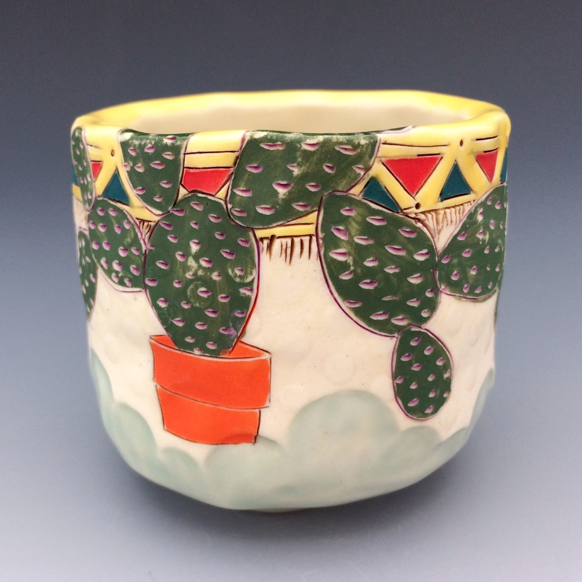 Potted Prickly Pear 3 by Sarah Magar