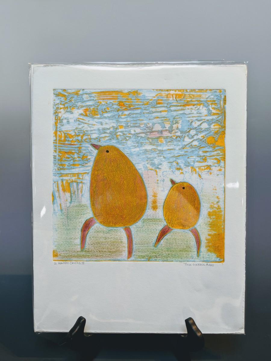 Two Happy Chicks by Tina Garrick Albro