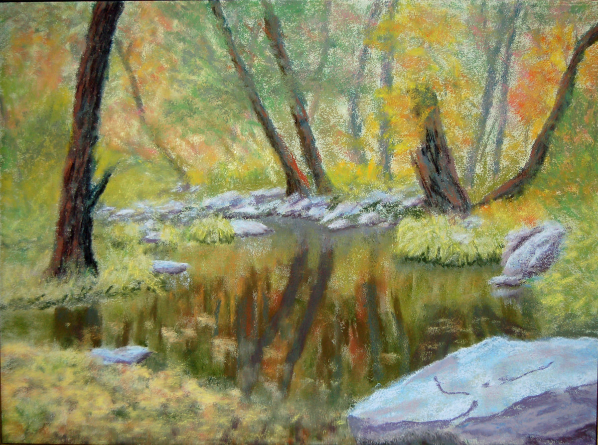 Cloudy Day at Oak Creek by Charles Stup