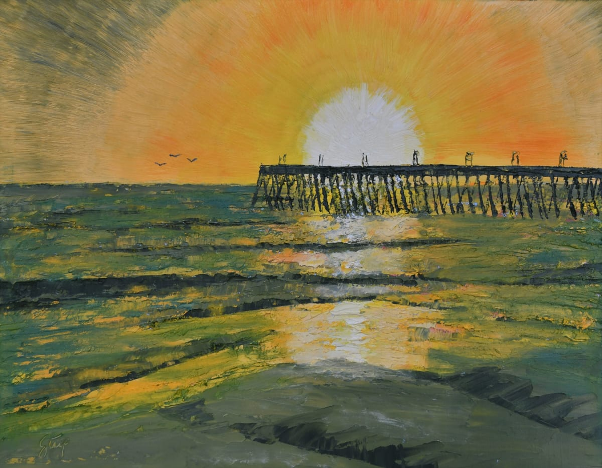 Sunset Over Pismo by Charles Stup