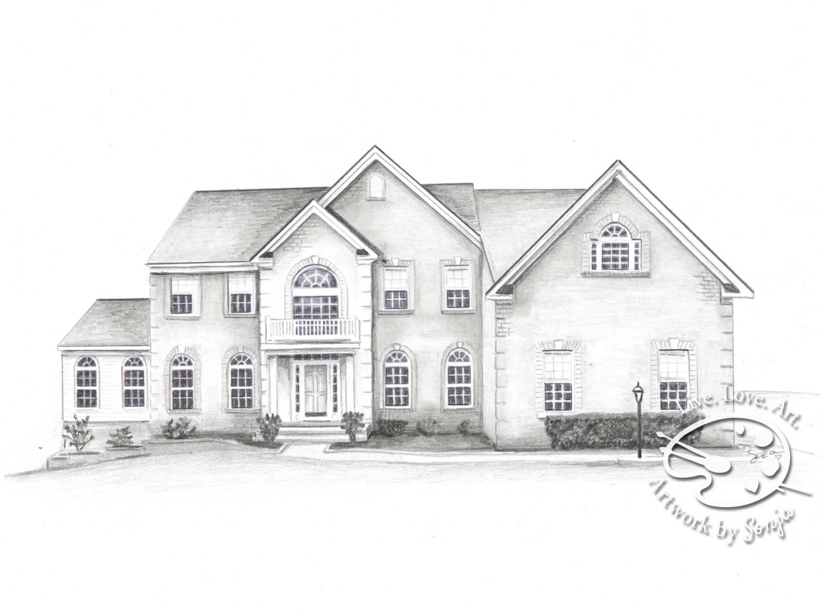 House Drawing Gift by Sonja Petersen
