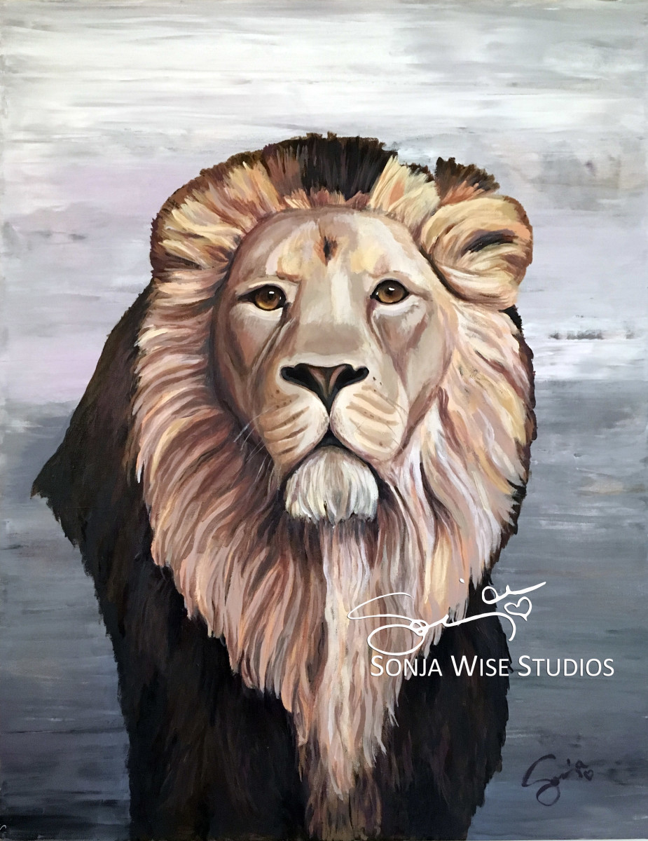 Ryan's Lion Print