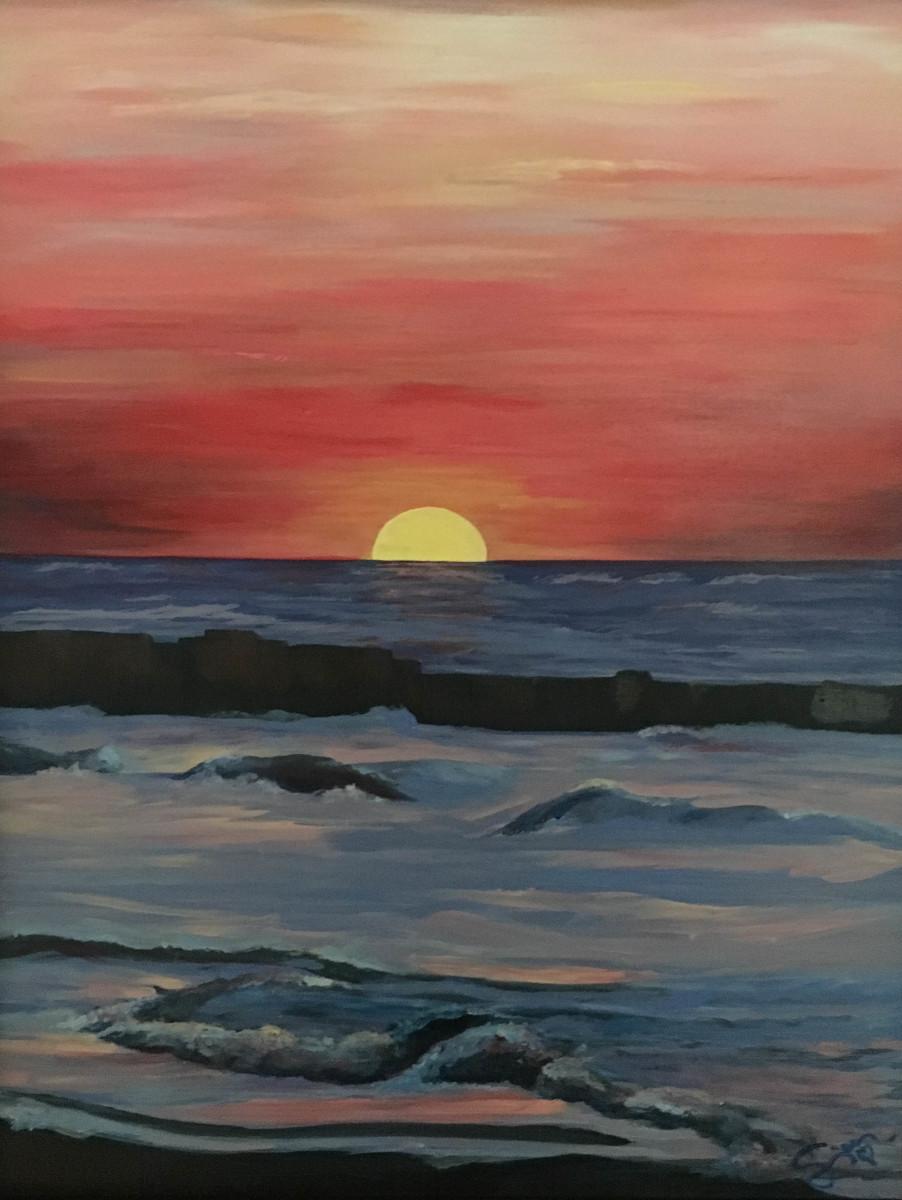 Sunset Over Blue