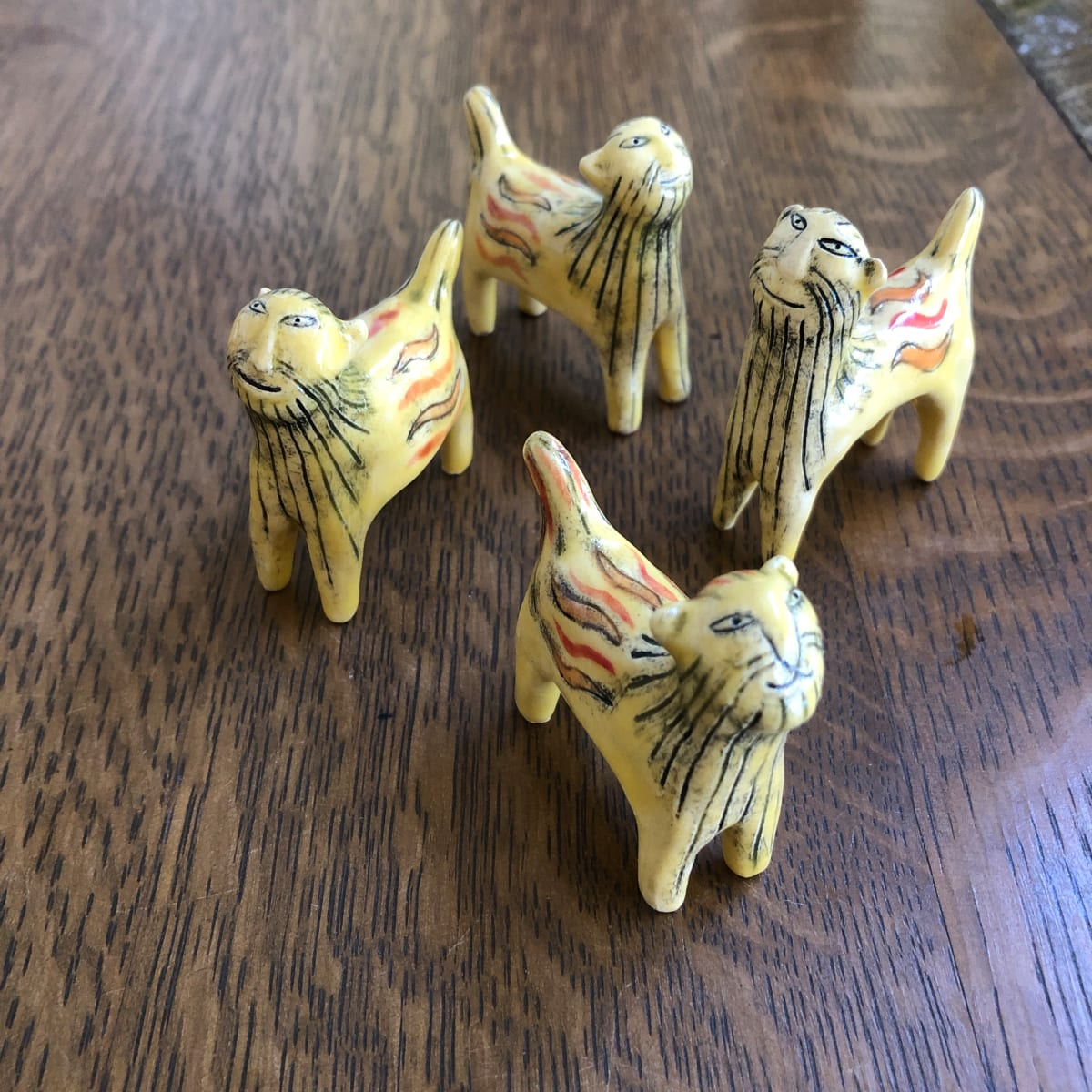 Fearsome teeny lions! available individually by Nell Eakin