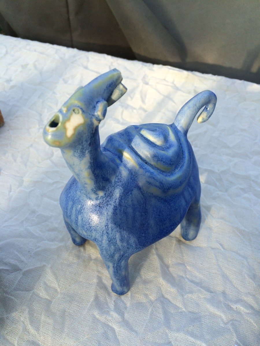 Blue Spiral spinning turtle corn by Nell Eakin