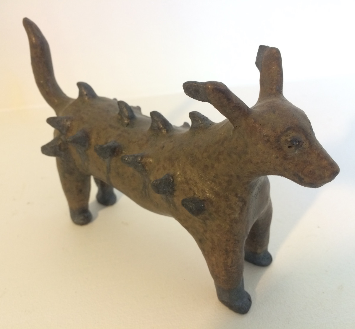 Sadie the tufted dog (sold) by Nell Eakin