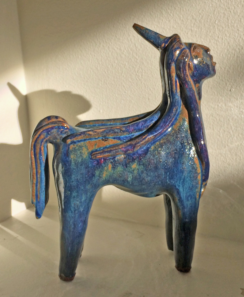 Maxella the blue maned unicorn by Nell Eakin