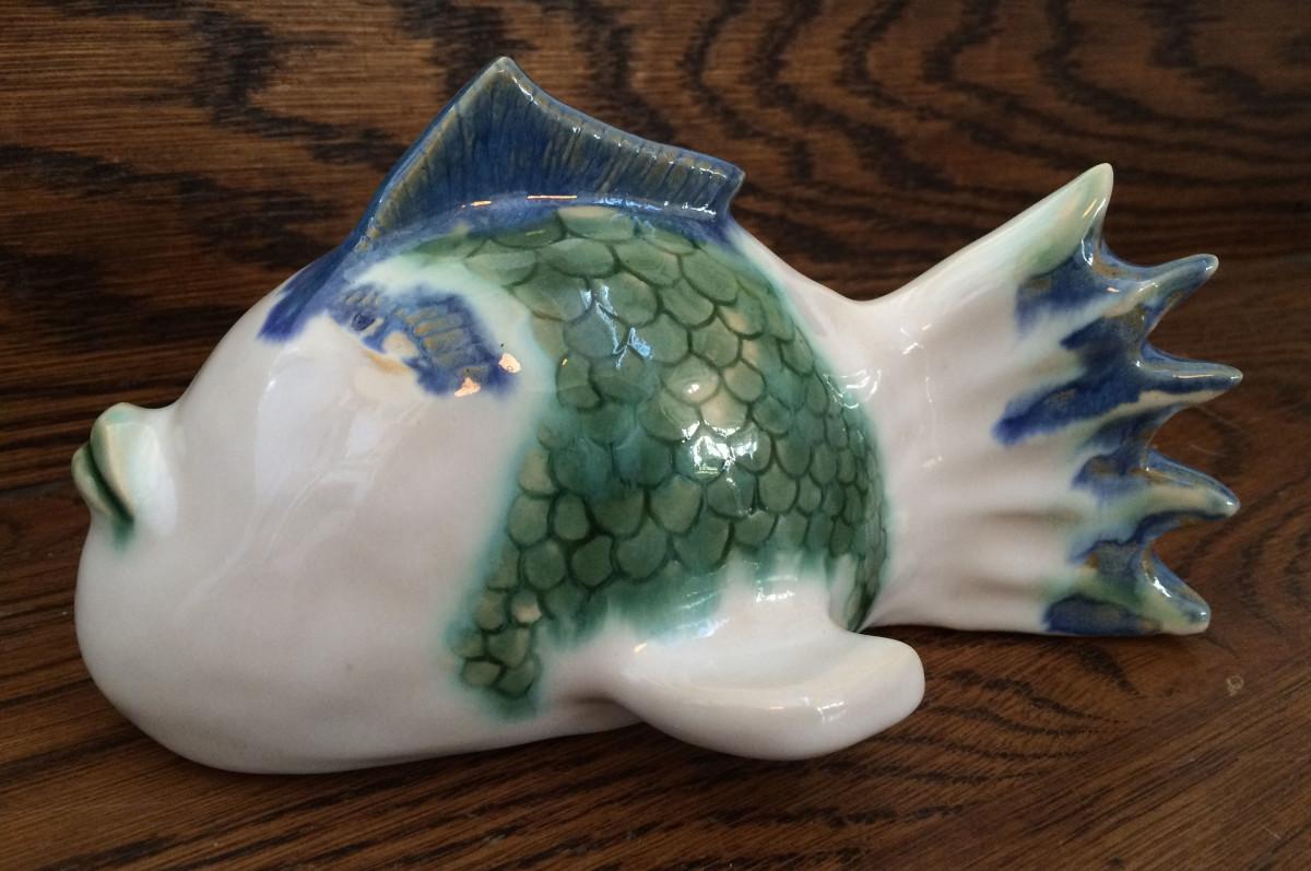 Finley the porcelian fish by Nell Eakin