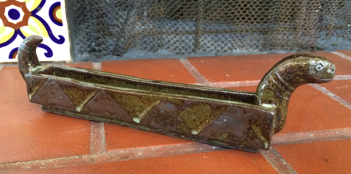 Snake dish olive server by Nell Eakin