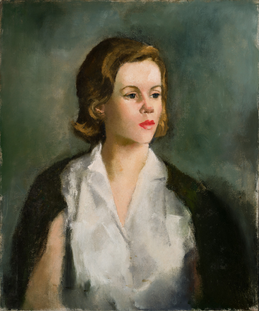 Woman in the White Blouse by Miriam McClung
