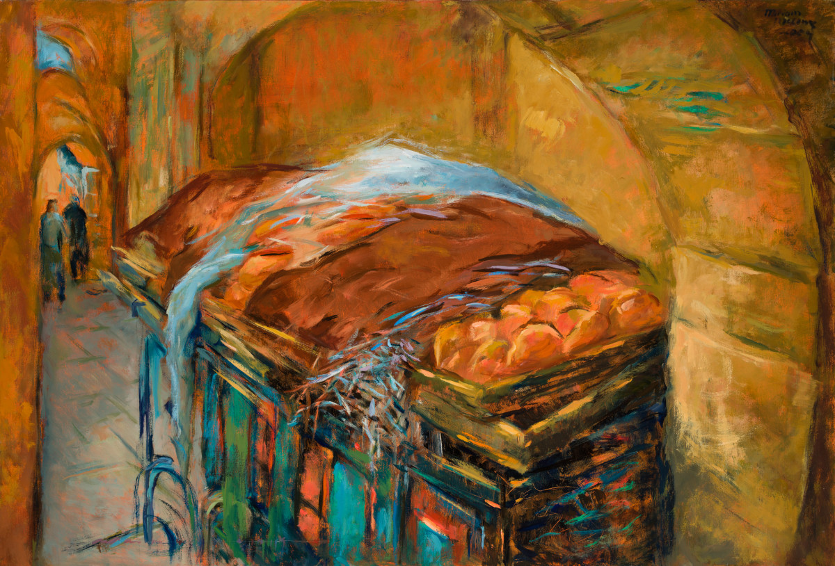 Bread Cart by Miriam McClung