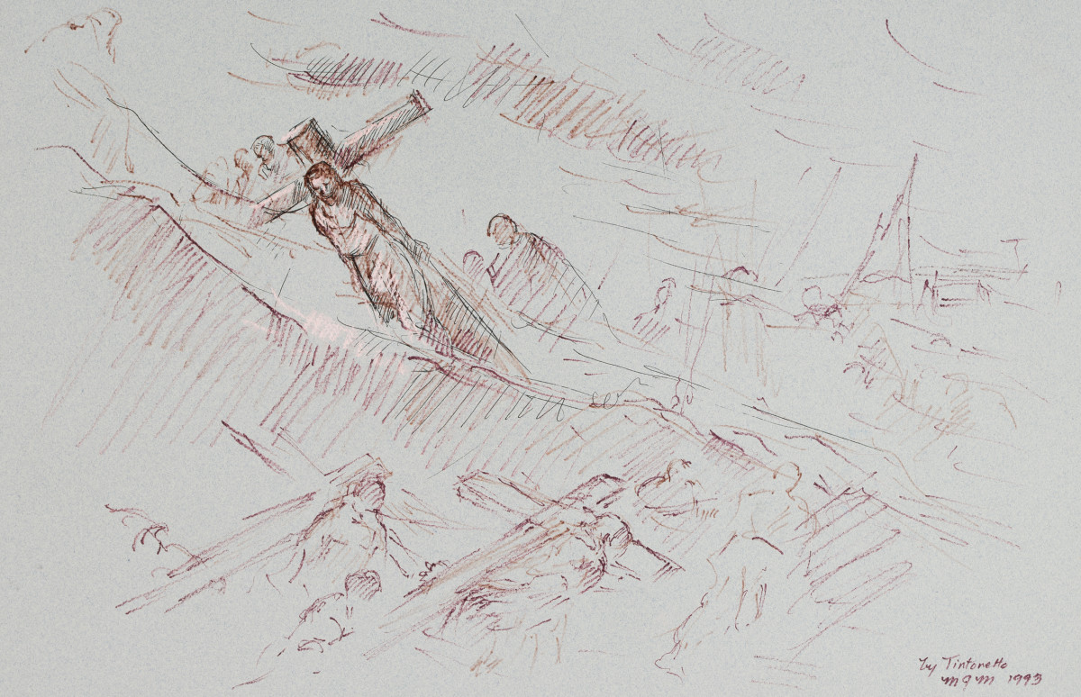 The Carrying of the Cross by Miriam McClung