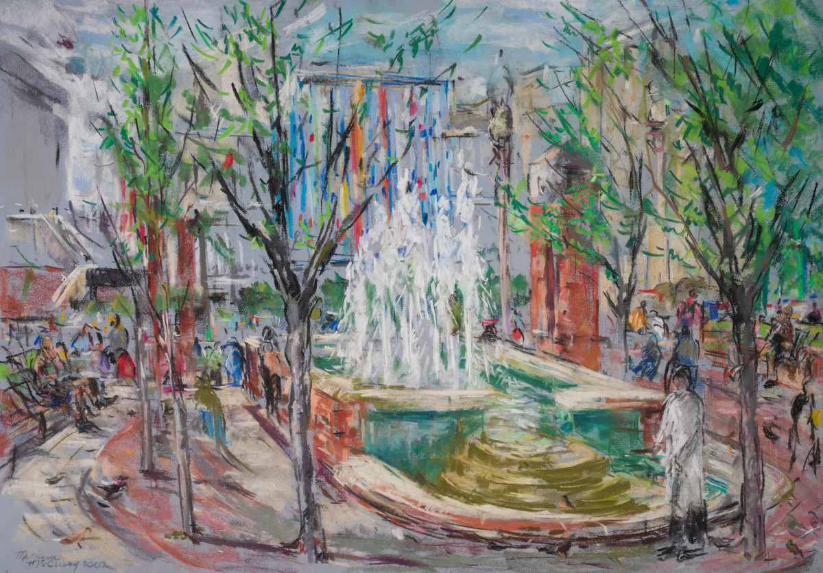 The Fountains at the UAB Callahan Eye Hospital by Miriam McClung