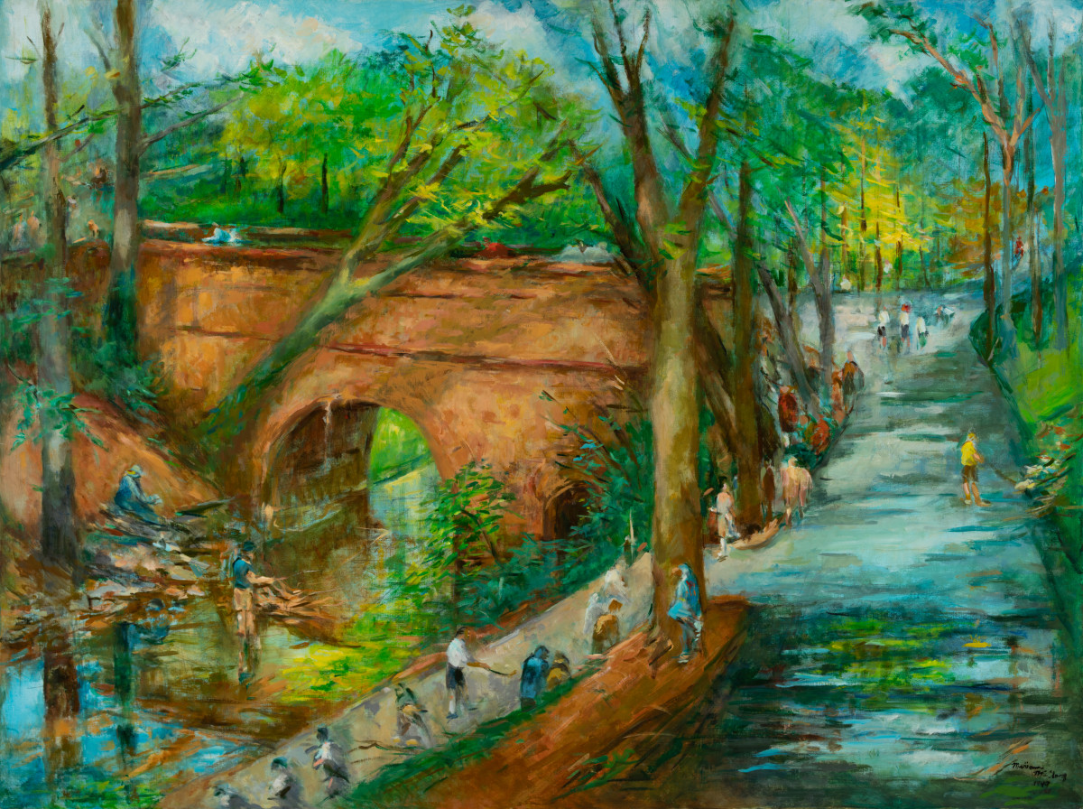 The Fishermen on the Mountain Brook Parkway by Miriam McClung