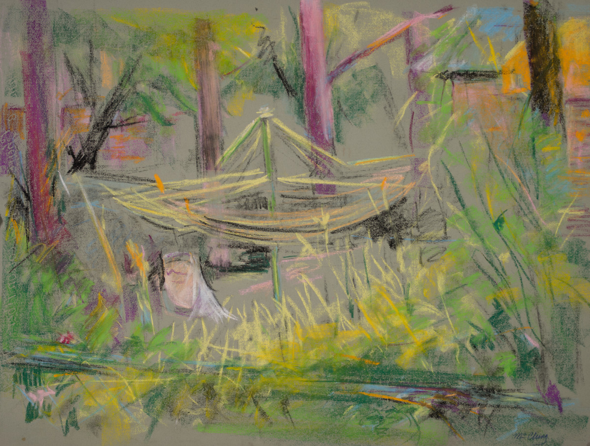 The Clothesline in the Backyard by Miriam McClung