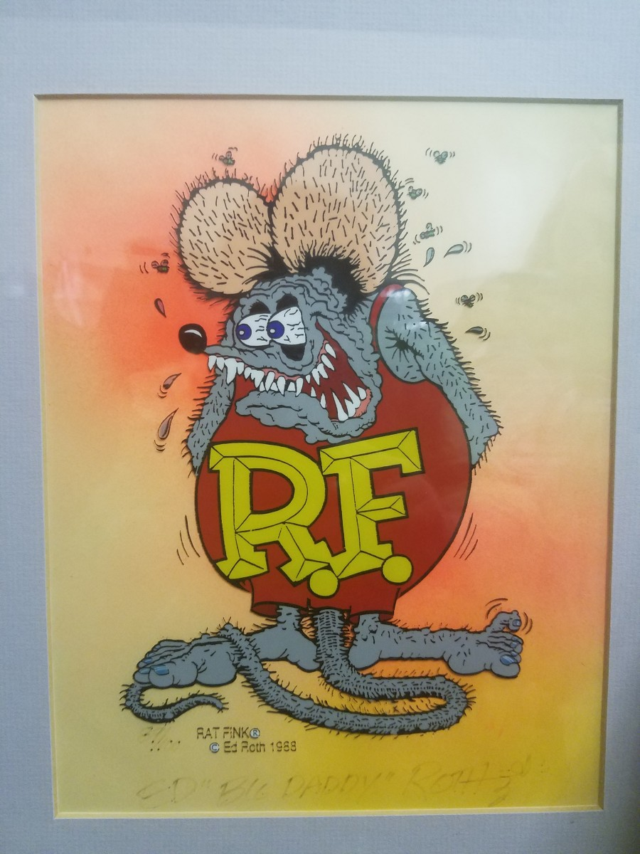 Rat Fink Hand Painted Signed Cel From The Artwork Archive