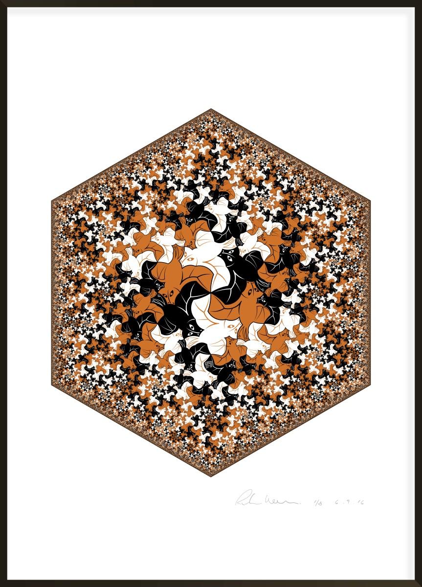 Hexagonal Limit - Bat Fractal I #3 of 8