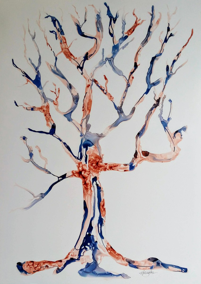 Burnt & Blue Tree