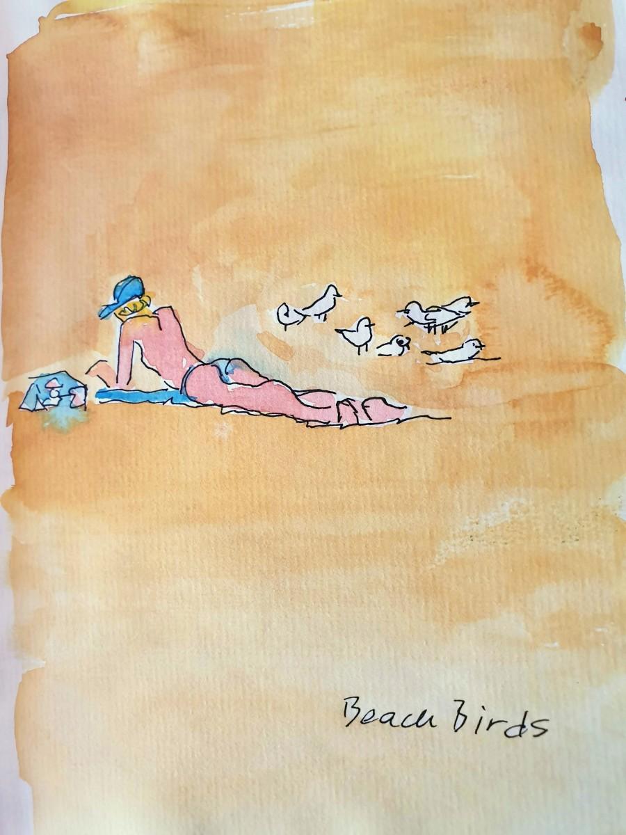 Beach Birds by Kit Hoisington