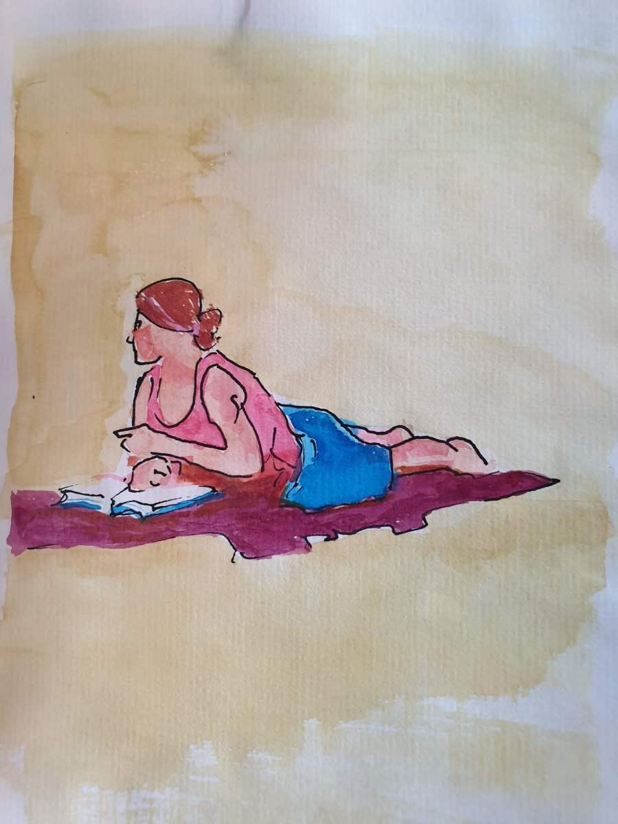 Single on Beach Towel