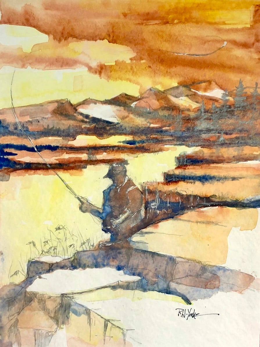 On the Firehole River by Robert Yonke