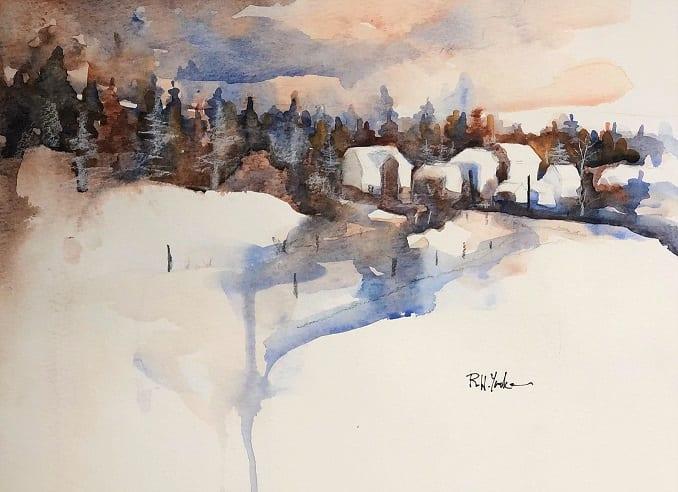 Sunday Snow by Robert Yonke