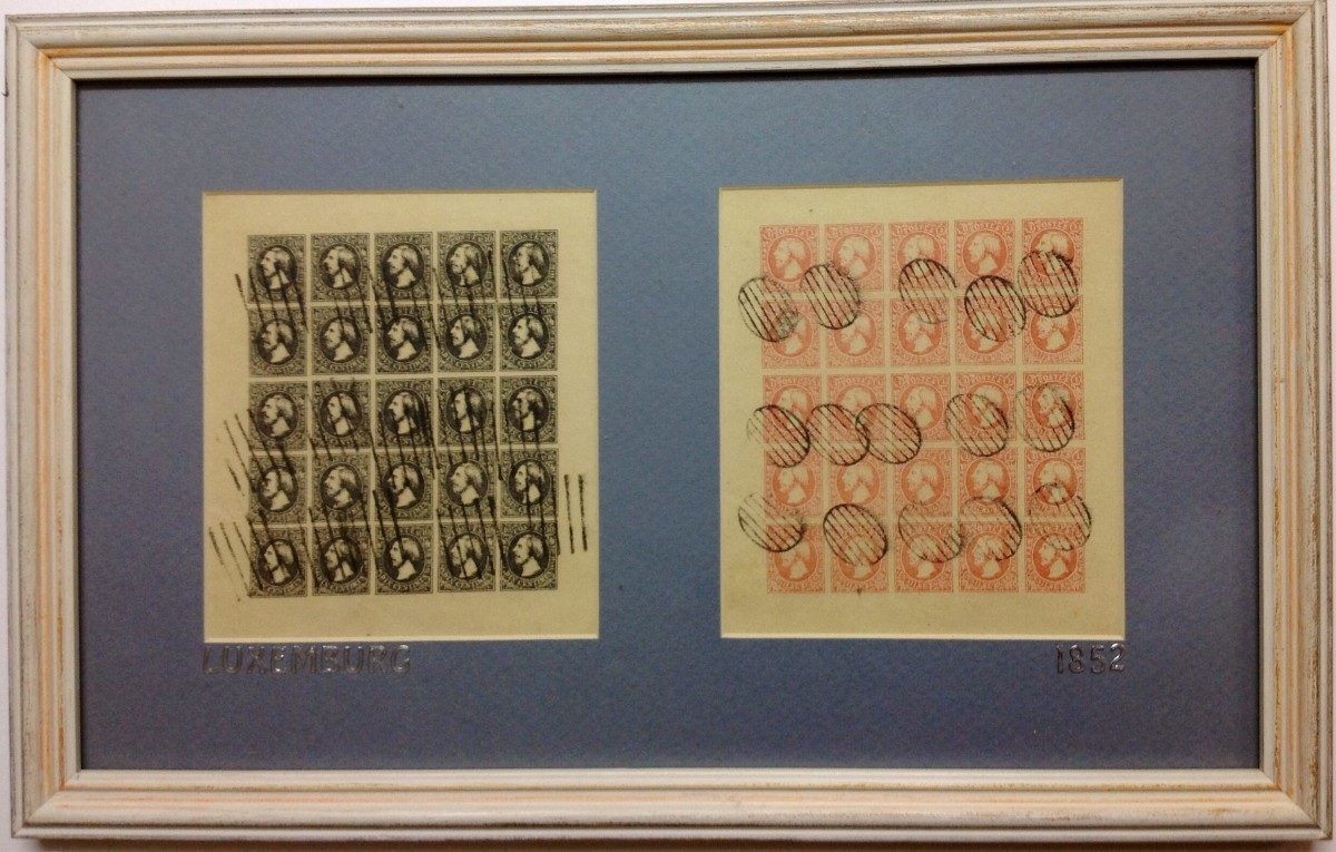 Luxembourg sheet stamps 1852