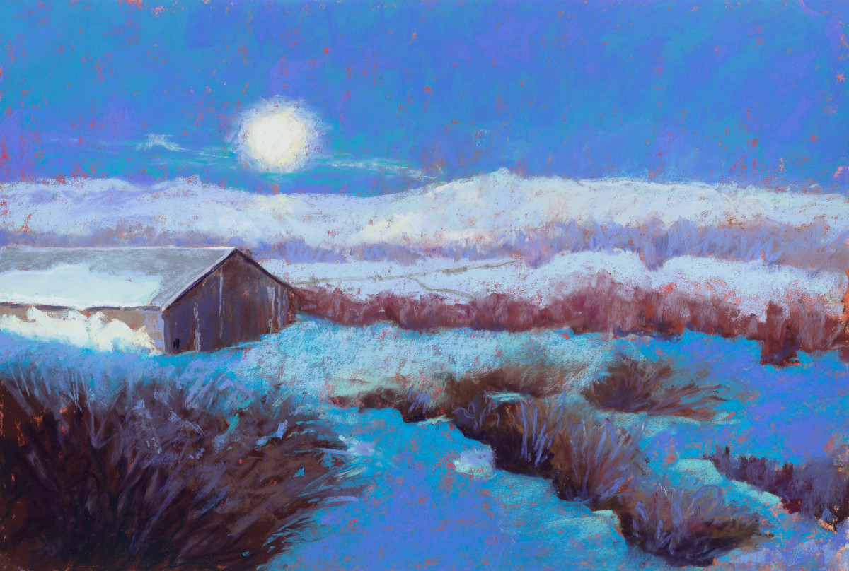 Lorraine's Super Moon by Sandy Marvin