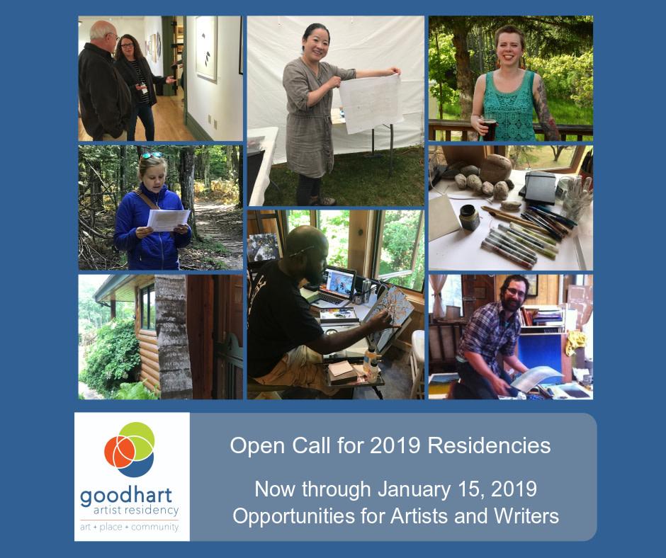 Good Hart Artist Residency Open Call for 2019 Residencies