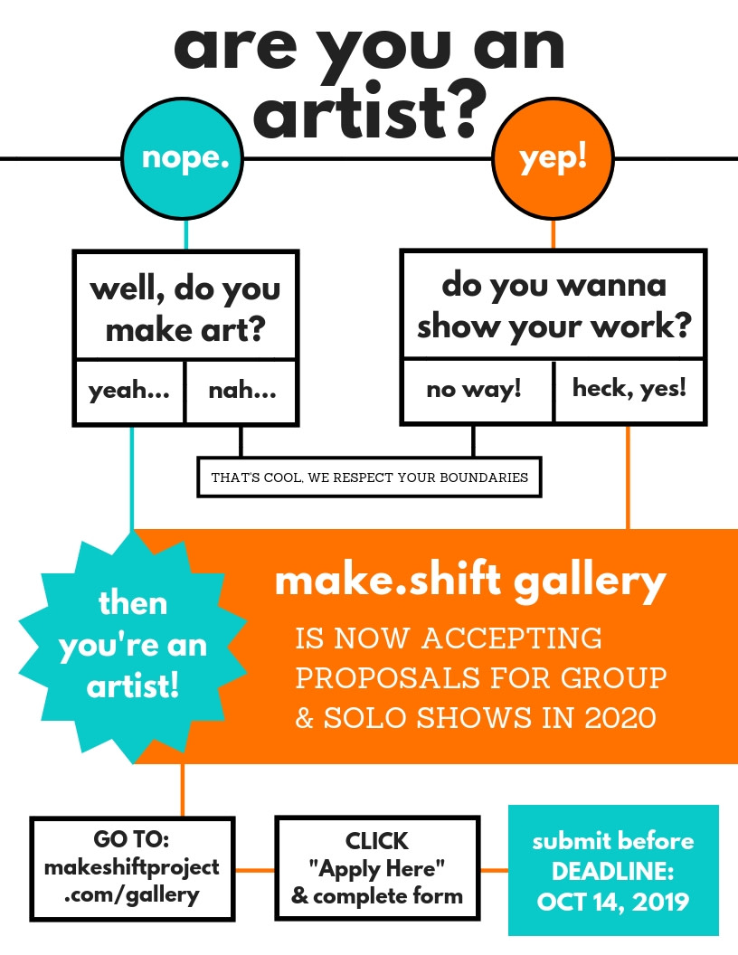 Make.Shift Gallery Now Accepting 2020 Proposals