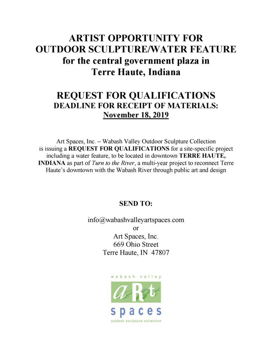 RFQ for Turn to the River in Terre Haute, Indiana