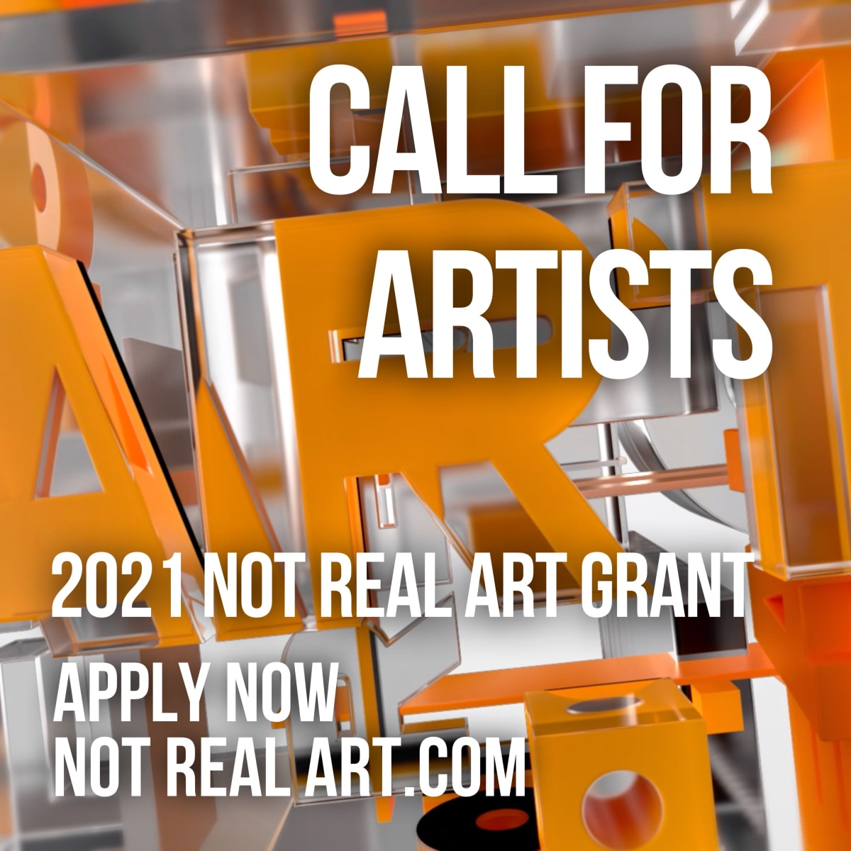 2021 NOT REAL ART Grant for Artists