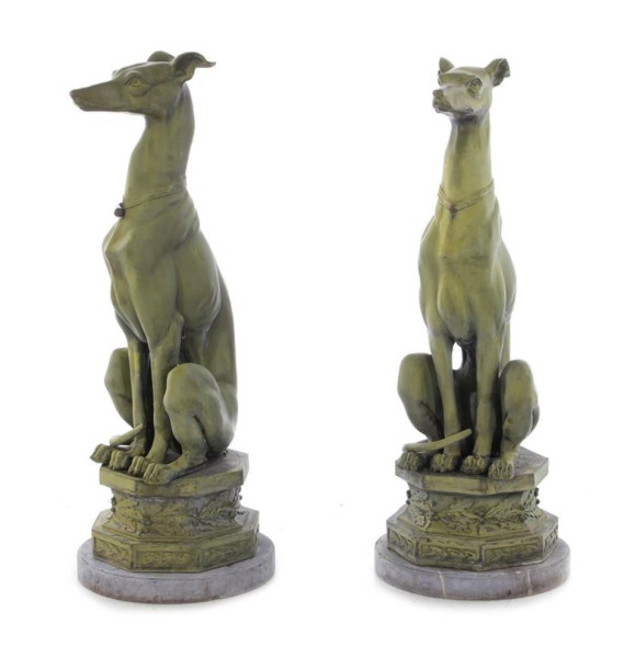 A Pair of Whippets