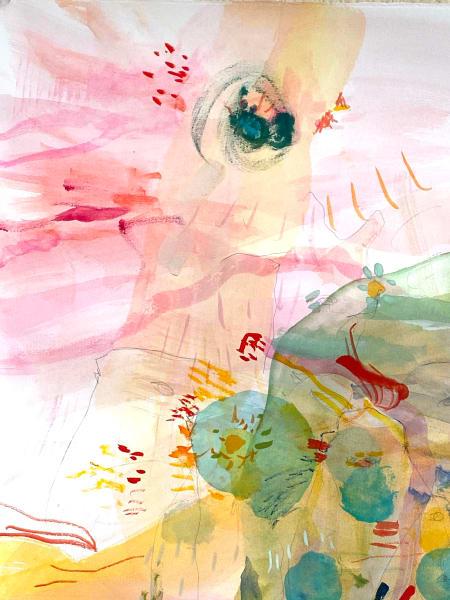 Pink Parrot & Love Bird Murmur | animal landscape