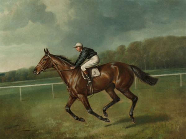 Sansovino & Sansovino Winning the Lord Derby's Derby (one by John Beer) (a set of two paintings)
