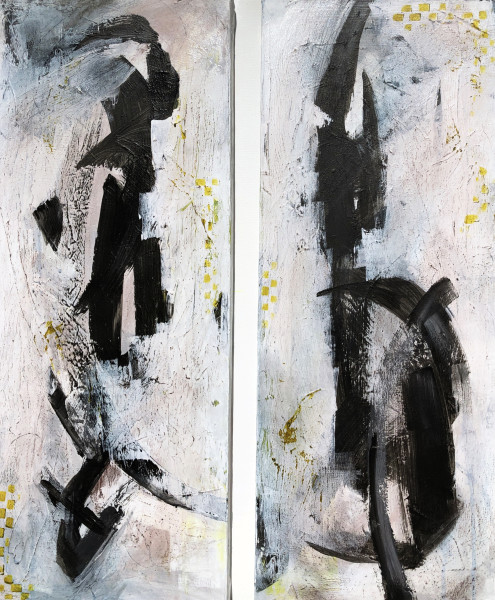 Let the Dance Begin-Diptych