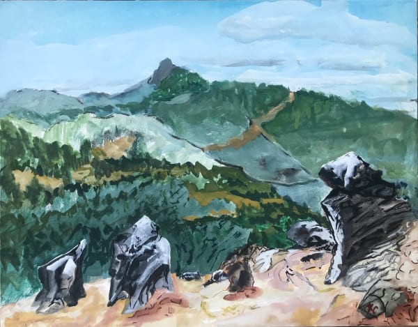 2-597- The Sentries - Soda Mt. Wilderness/View West to Pilot Rock; Hallie Ford Gallery UVAA