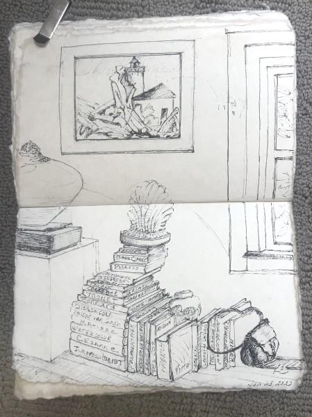 616-  Art Books - Hill House Interior I