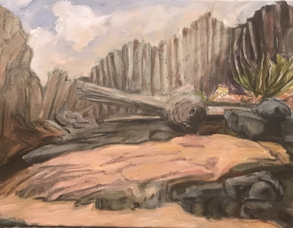 621- On the Easel 1/25 - Drift at Seal Rock - in Process