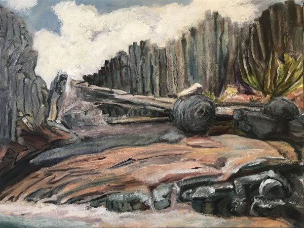 621- On the Easel 1/27 - Drift at Seal Rock - in Process