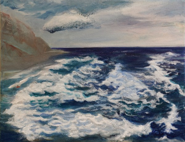 328 - The Surfer & The Overwhelming Power - Blue Wave II - Yachts