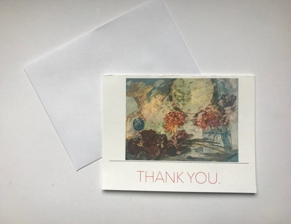605- NC  Thank you  Note card sm. 5.5 x 4.25