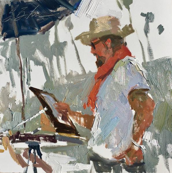 Dan Marshall Painting on Laguna Beach