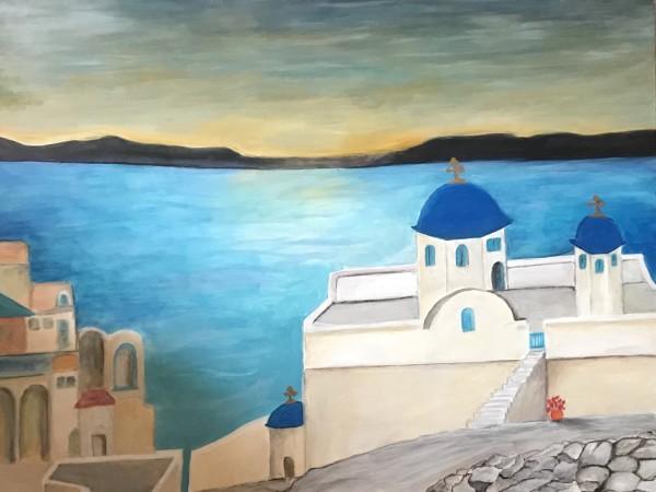 Greek Island Church