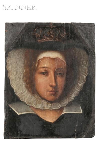 Central European School, Portrait of Queen, 17thC.